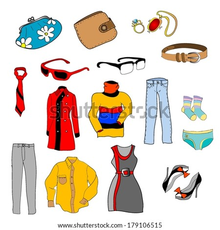 Fashion objects Set - stock vector