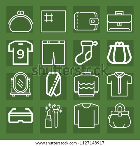 Fashion Outline Set Vector Icons Such Stock Vector