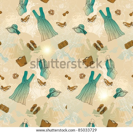 fashion seamless background - stock vector