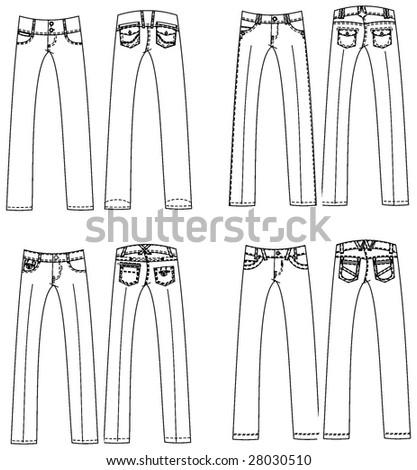 fashion set design 2 - stock vector