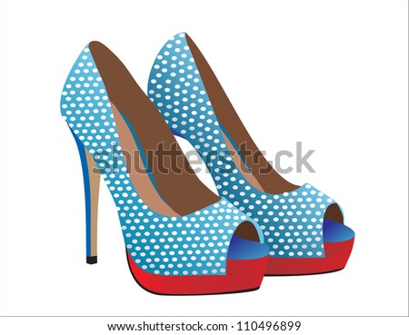 Fashion shoes. - stock vector
