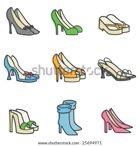 Fashion Shoes - stock vector