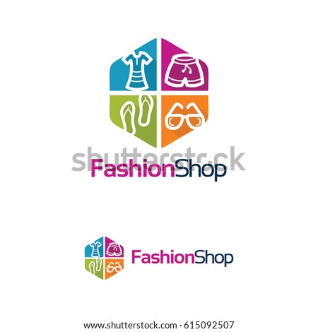 Fashion Shop Logo Template Design Stock Vector HD (Royalty Free ...