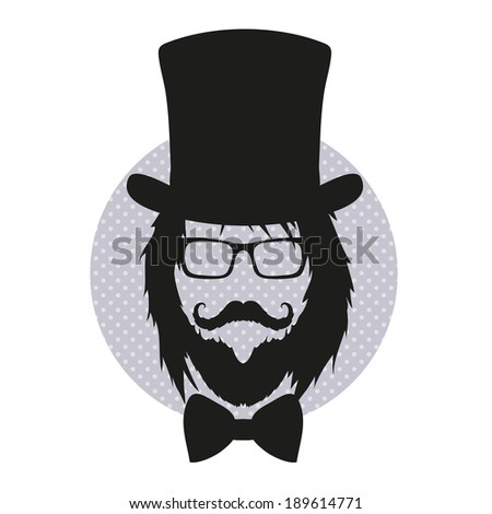 Fashion silhouette hipster style, vector illustration - stock vector