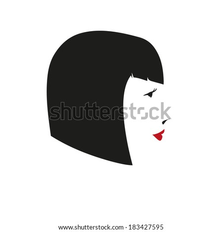 Fashion silhouette woman style, vector illustration  - stock vector