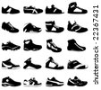 fashion sport shoes vector - stock photo