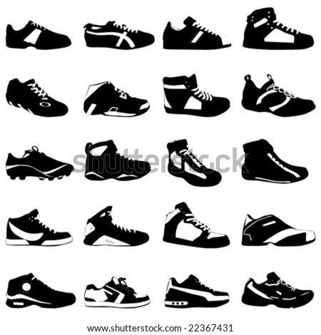 fashion sport shoes vector - stock vector