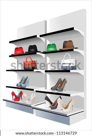 Fashion store. Vector set - stock vector
