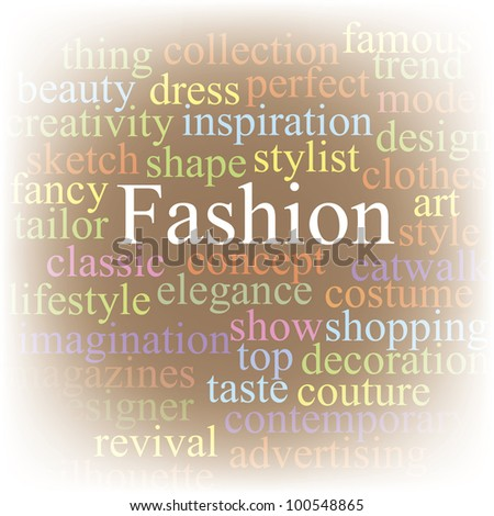 Fashion. Tag cloud. - stock vector