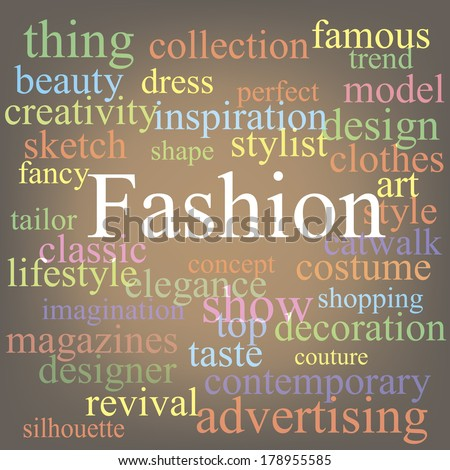 Fashion tagcloud - stock vector
