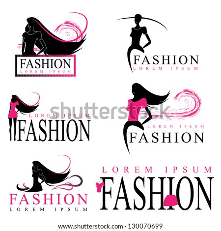 Fashion Woman Silhouette Isolated On White Background - Vector Illustration, Graphic Design Editable For Your Design. Logo Symbol - stock vector