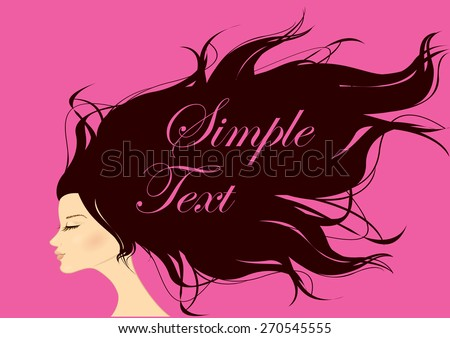 Fashion Woman with Long Hair. Vector - stock vector