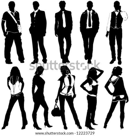 fashion women and men vector - stock vector