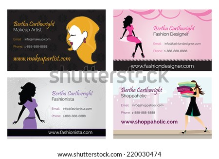 Fashion women business cards stock vector royalty free 220030474 fashion women business cards colourmoves