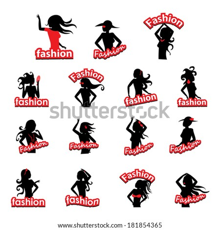 Fashion Women Silhouette - Isolated On White Background - Vector Illustration, Graphic Design Editable For Your Design