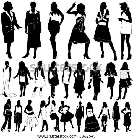 fashion women vector (clothes detail) 1 - stock vector