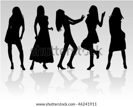 Fashion  Women, vectors work - stock vector