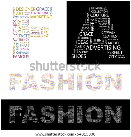 FASHION. Word collage. Vector illustration. - stock vector
