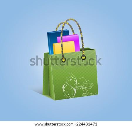Fashionable bag. - stock vector