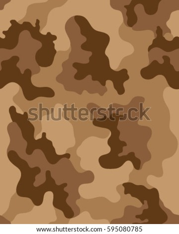 Fashionable Camouflage Pattern Vector IllustrationMillatry Print Seamless Wallpaper