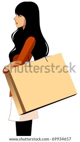 fashionable city woman - stock vector