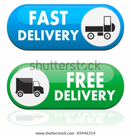 Fast and free delivery icons - stock vector
