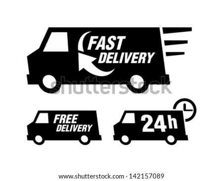 Fast delivery - stock vector