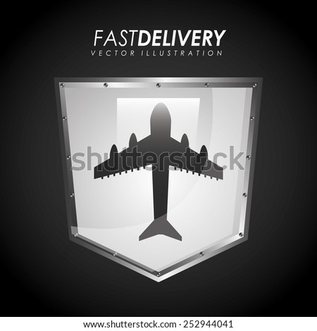 fast delivery design, vector illustration eps10 graphic  - stock vector