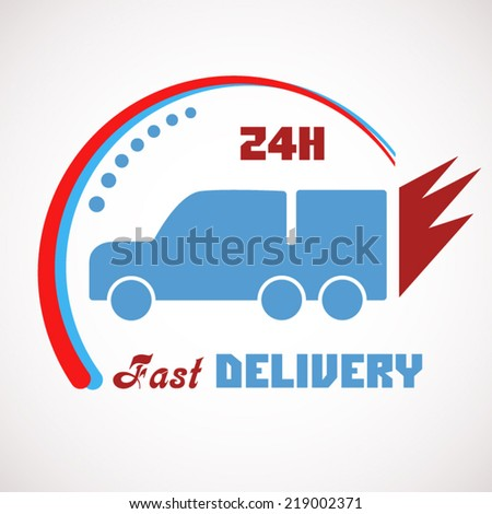 Fast delivery icon concept design for express or transport companies vector illustration - stock vector