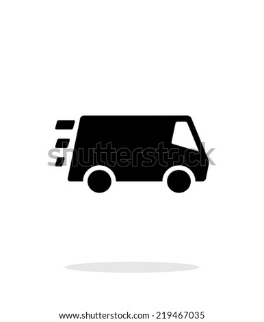 Fast delivery Minibus icon on white background. Vector illustration. - stock vector