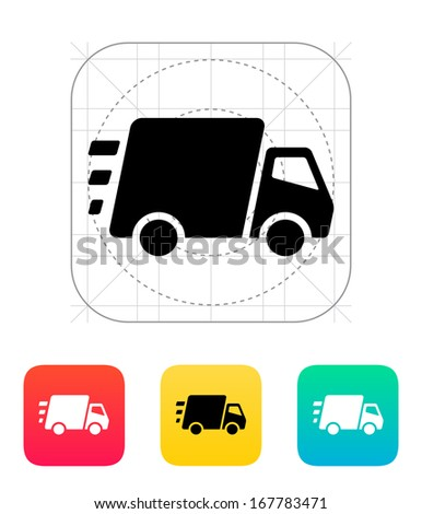Fast delivery Truck icon. Vector illustration. - stock vector