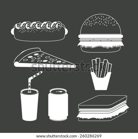 Fast Food design, vector illustration - stock vector