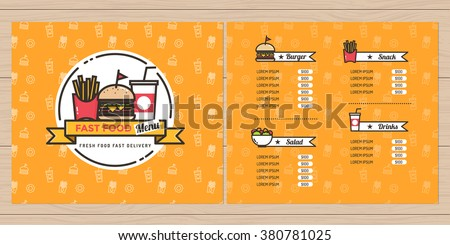 Burgers menu stock images royalty free images vectors for French brochure template