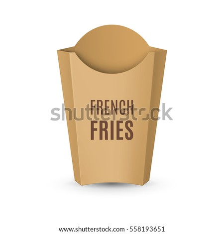 fast food icon empty carton packaging stock vector royalty free