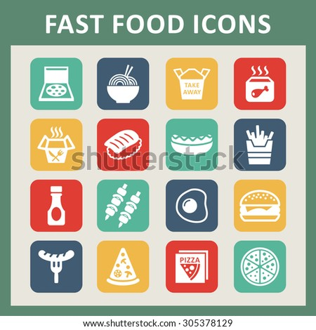 Fast food icons for web