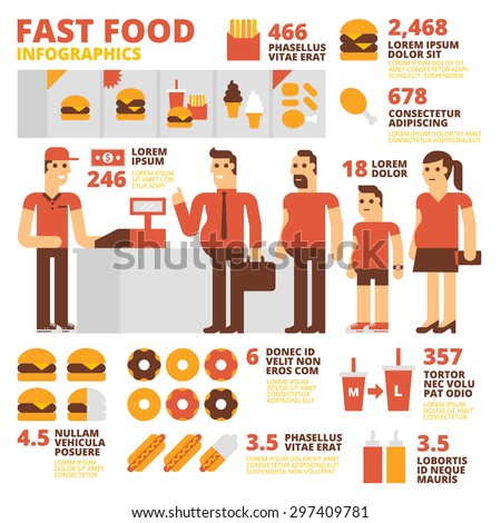 Fast Food Infographics - stock vector