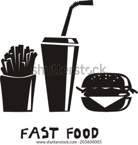 Fast food menu - stock vector