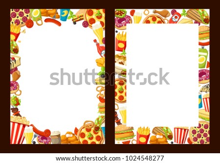 Fast Food Menu Design Template Blank Stock Vector 1024548277 ...