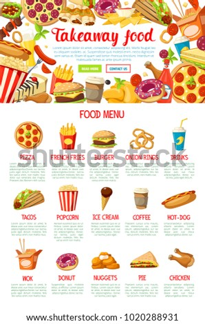 Fast Food Restaurant Menu Frame Border Stock Vector 1020288931 ...