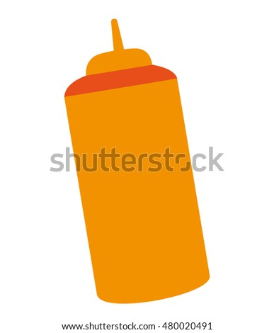 fast food sause bottle vector illustration design