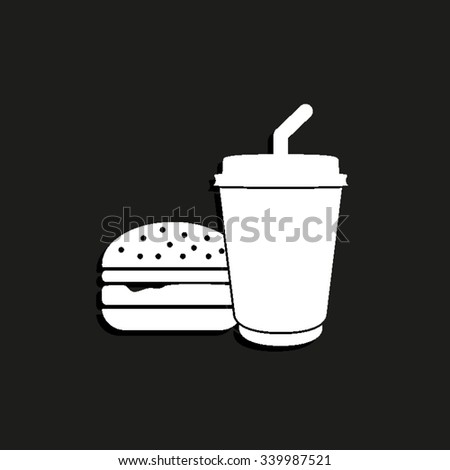 fast food - vector icon