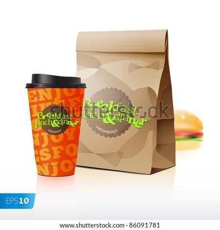 Fast food vector set eps 10 - stock vector