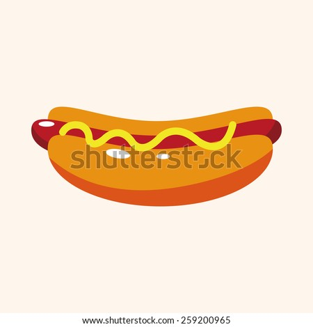fast foods hotdog theme elements - stock vector