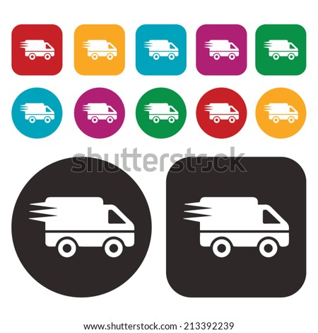 Fast shipping and delivery icon - stock vector