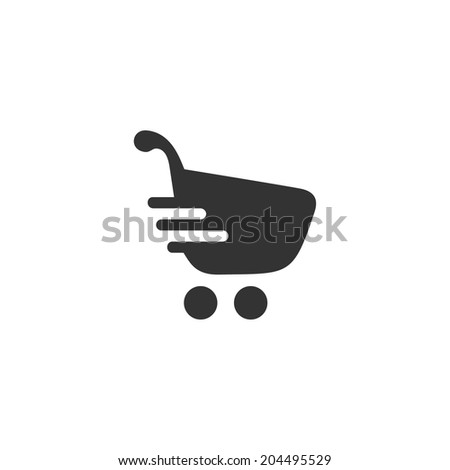 Fast shopping icon - stock vector