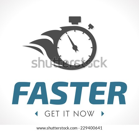 Faster logo - stock vector