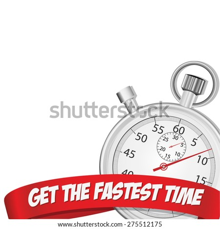 Fastest Time Stopwatch: Vector - stock vector