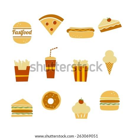 fastfood restaurant theme icon - stock vector