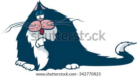 Fat Cat A cartoon Fat Cat. Vector file available. - stock vector