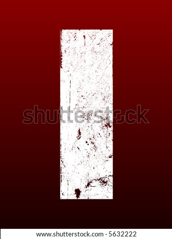 Fat Grunged Letters - I (Highly detailed grunge letter) - stock vector